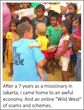 Egon with Indonesian kids
