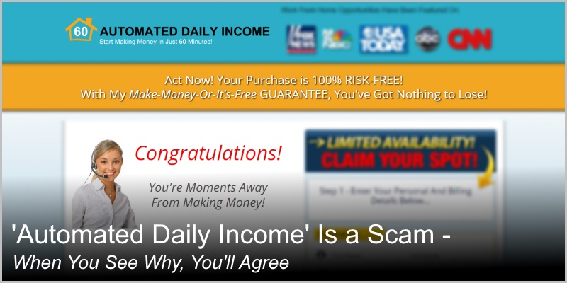 Automated Daily Income Is a Scam – When You See Why, You'll Agree