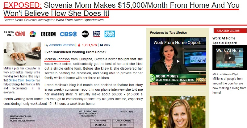 Striking similarities between Melissa Johnson scam and Raena Lynn scam