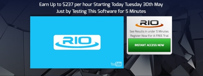 Rio Profits website is identical to TEsler app