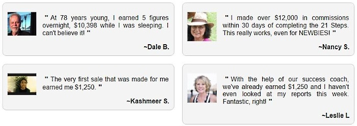 Fabricated testimonials found in the ADI site