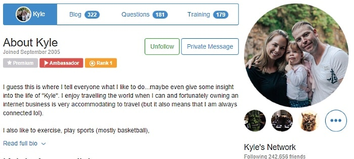Is Wealthy Affiliate a scam review - Kyle's Wealthy Affiliate account