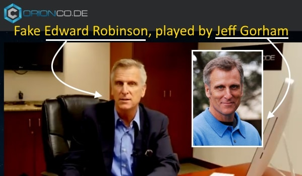 Edward Robinson is played by Jeff Gorham from Portland