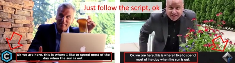 Just follow the script, ok!