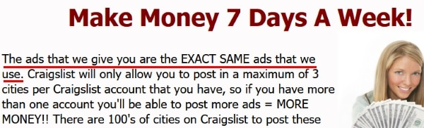 You will get the same exact ads that we use