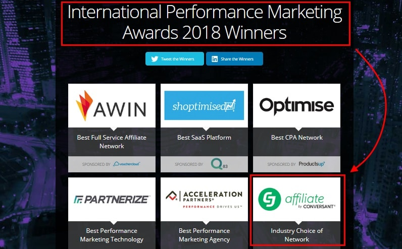 CJ Affiliate one of the big winners at International Performance Marketing Awards 2018