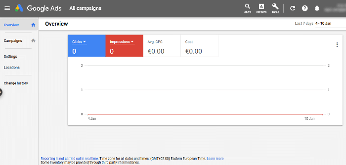 ways to make money with Google ads - Google Adwords dashboard