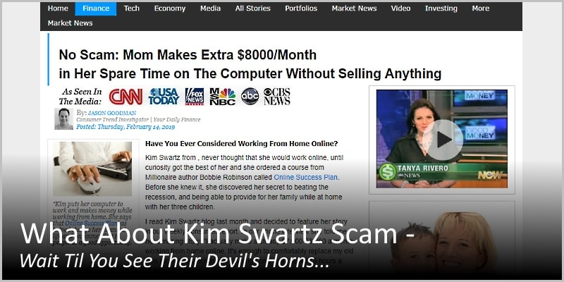 What About Kim Swartz Scam – Wait Til You See Their Devil's Horns…