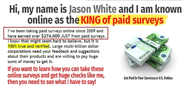 What about Jason White Take Surveys for Cash