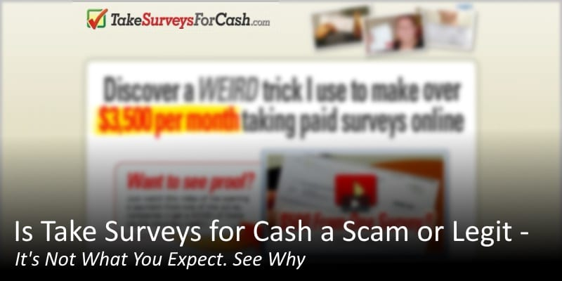 Is Take Surveys for Cash a Scam or Legit – It's Not What You Expect. See Why