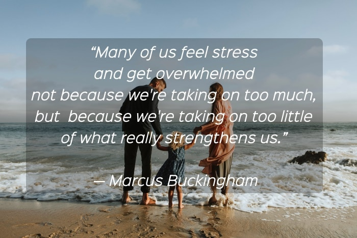 How to Live Stress Free Life - a quote by Marcus Buckingham