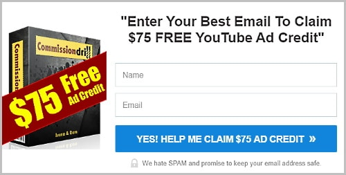 Get $75 free Youtube Ad Credit